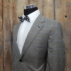 Jos A Bank Sport Coat Mens 40S Silk Blend Gray